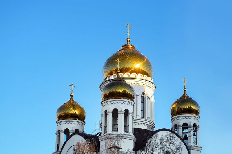 Religion Belief Architecture Built Structure Spirituality Sky Building Exterior Spire  Gold Colored Building No People Tourism Travel Destinations Nature Travel Dome Place Of Worship Clear Sky Outdoors