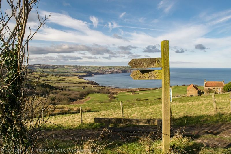 Ravenscar! Ravenscar Seaside Seaview Coast Coastal View Cleveland Way Old Railway Line Old Sign Walk Biking Hiking Whitby Robinhoods Bay Yorkshire Rooftops And Chimney Pots Photography