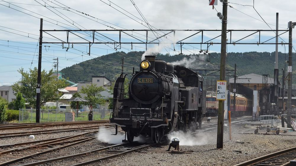 My Year My View Go! SL Steam Train Steam Locomotive Railway Summer Days Travel Photography From My Point Of View Capture The Moment 大井川鐵道 旅写真 August 2016 この前の写真の客車を引っ張ってるのはこの蒸気機関車。