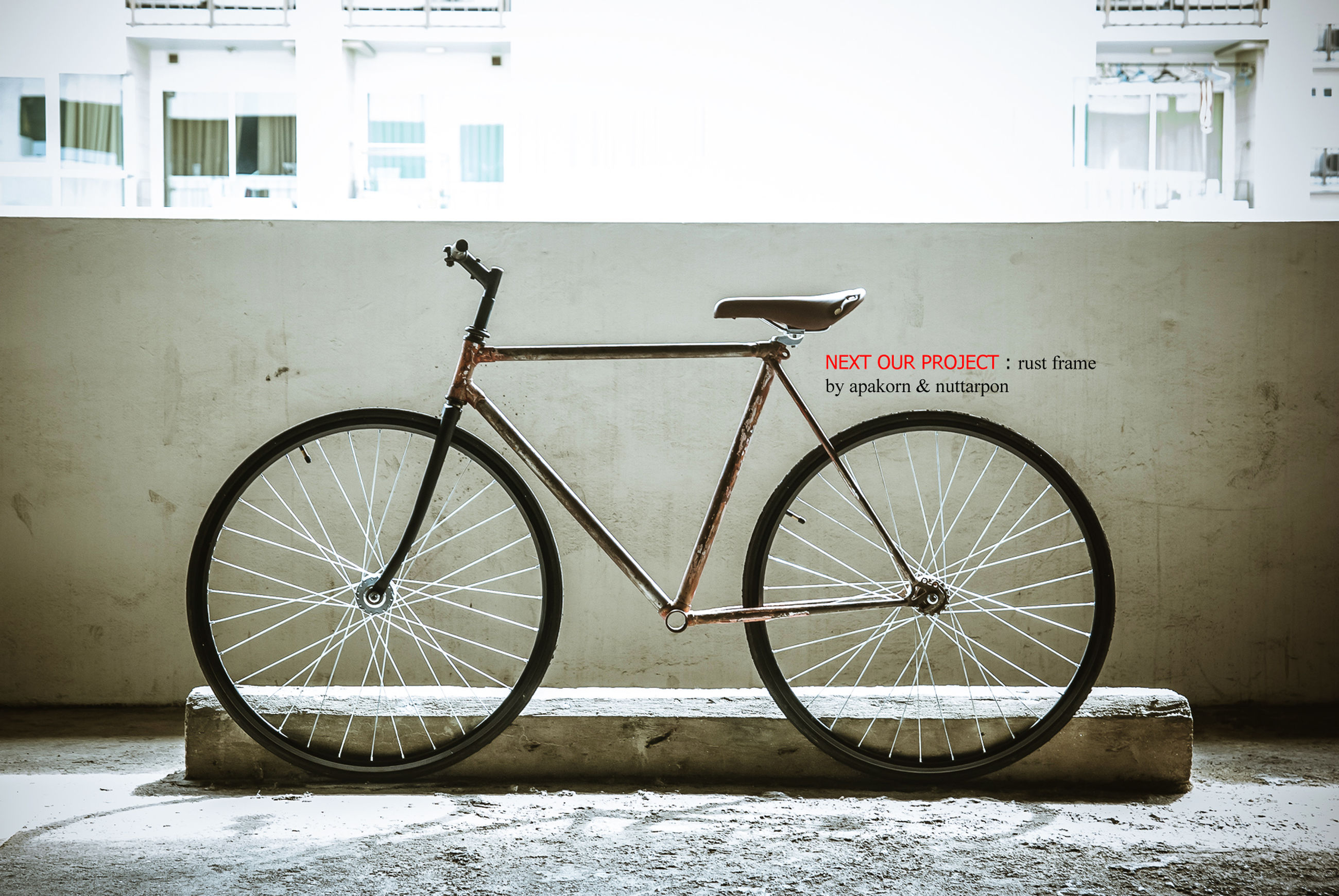 bicycle, building exterior, architecture, built structure, stationary, mode of transport, wall - building feature, parking, land vehicle, transportation, parked, house, window, wall, day, no people, outdoors, residential structure, building, wheel