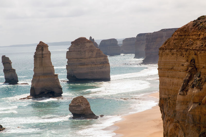 12 Apostel 12 Apostles Coastline Day Great Ocean Road No People Outdoors Rock Formation Water
