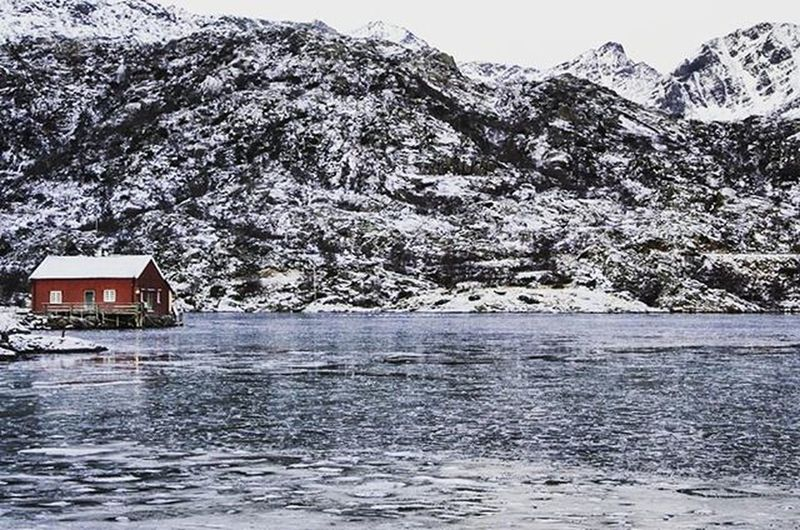 Norway Norge North Landscape Lofoten Snow Winter Travel House Ice Lake