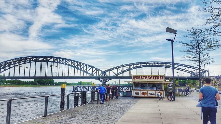 Bratort Leisure Activity City Architecture Scenics Tatort Imbissbude Travel Destinations Outdoors Bridge Riverside Brücke Köln Cologne