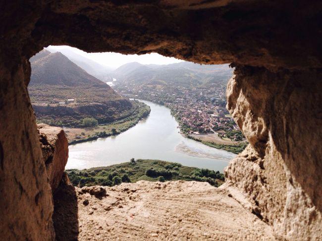 Georgia Jvari Monastery Monastery Water Mountain Nature Beauty In Nature Landscape Travel Summer History