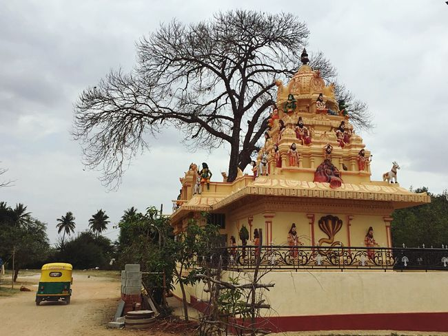 Spirituality Religion India IPhoneography South Indian Temple Architecture Indian God Tree Overcast Indian Village