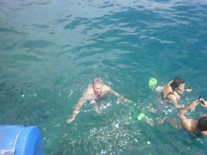 swimming in the Andaman sea, Thailand.