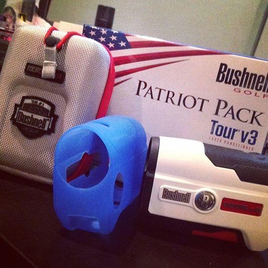 My new Bushnellgolf Rangefinder Tourv3jolt Jolt bushnell patriotpack golf newtoy season2014 bushnellv3 pinseeker