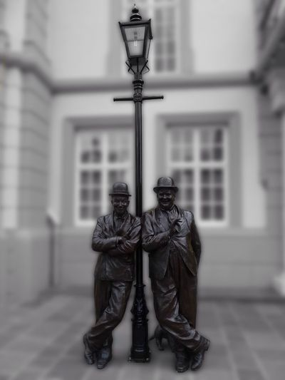 Laurel & Hardy Statue In Ulverston Cumbria...x Statue Sculpture Architecture Laurel & Hardy - Ulverston Ulverston Cumbria Comedy Comedian First Eyeem Photo England Laurel And Hardy Stan Laurel Oliver Hardy