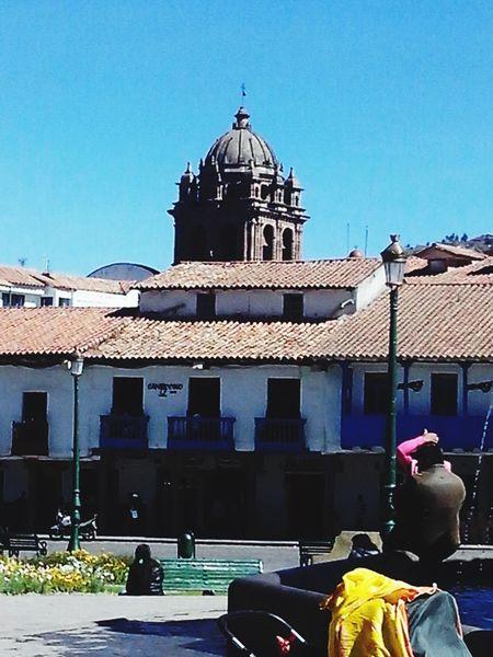 CUZCO PERU Sunbathing Enjoying The Sun Architecture