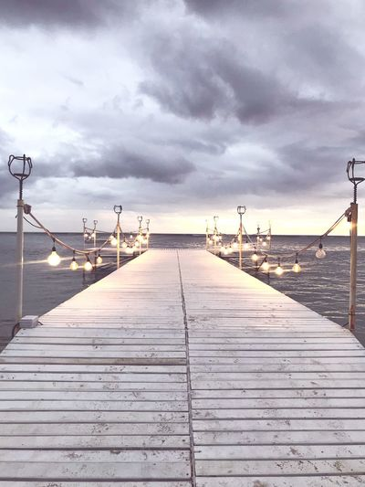 Stormy evening Beauty In Nature No People Outdoors Wood - Material Wood Paneling Nature Tranquil Scene Tranquility Diminishing Perspective Boardwalk Footpath Scenics - Nature Day