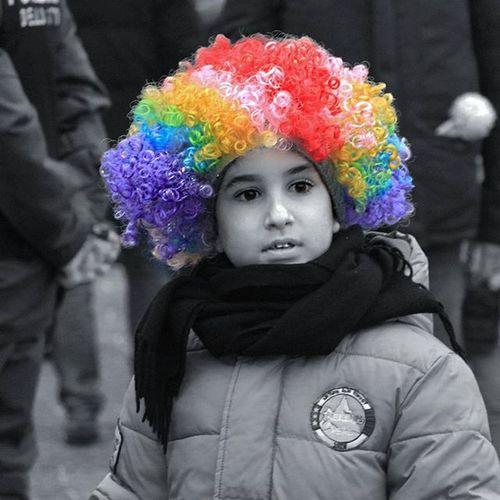 Clown B &w
