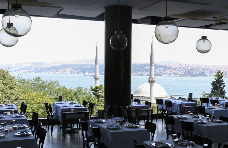 View from a good restaurant over the Bosphorus. Uskudar Istanbul Istanbul Turkey Turkey Michelin Star Star - Space Landscape Screensaver Blue Sea Bosphorus Bosphorus Bridge Bosphorus, Istanbul Mosque Religion Food Food And Drink Foodphotography Architecture Architecture_collection EyeEm Best Shots Design Design Elements Table Restaurant