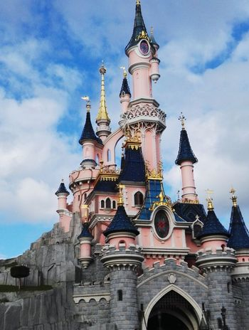 Vacations Day Childhood Disneyland Paris Mickeymouse Pink Princess Tower