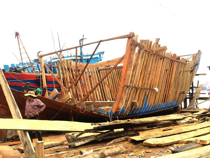 Fishery Vessel Fishery  Ships Ship Quang Ngai, Vietnam Wood - Material Nautical Vessel Ship Construction TriShot Quang Ngai Construction