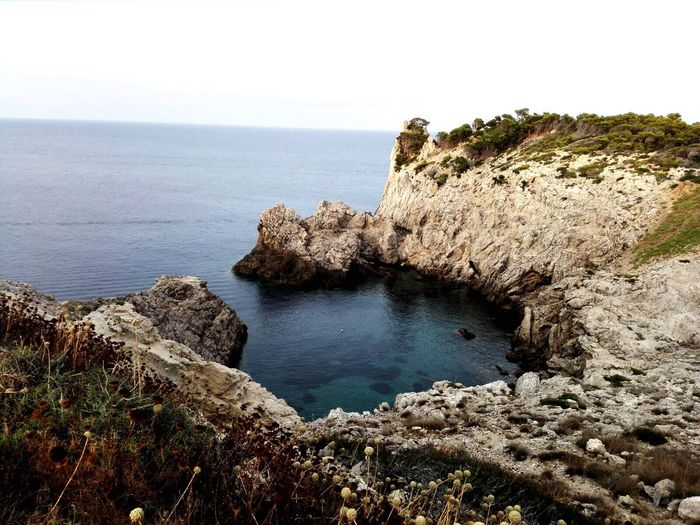 Somuchbeauty Water Horizon Over Water Beauty In Nature Nature Cliff Blue Sky Mallorca Malle Holiday SPAIN Notourist Türkiseswasser Meer Meerblick