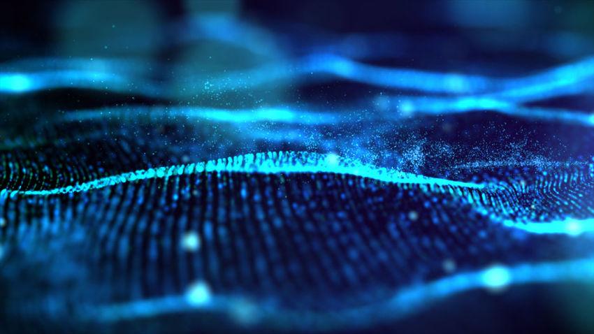 Futuristic Blue digital abstract luxurious sparkling wave particles flow de-focus background Blue Wave Futuristic Abstract Abstract Particles Backgrounds Blue Blue Texture Bokeh Close-up Digital Digital Background Dreamlike Expensive Light Ripple Luxurious Blue Luxurious Particles Mysterious Pattern Richness Selective Focus