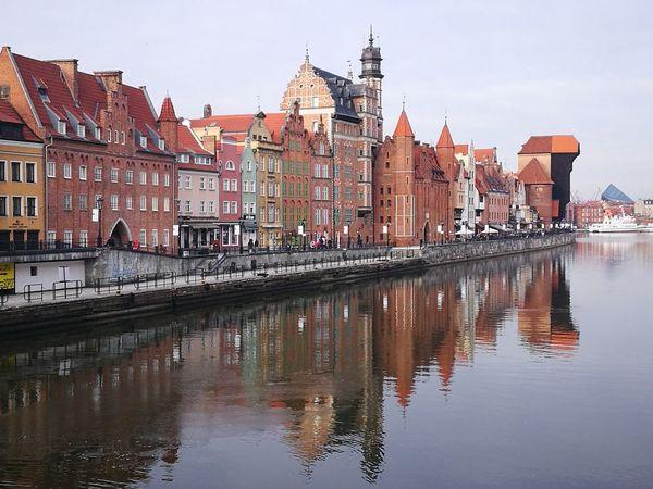 Gdansk Gdansk, Poland Gdańsk. Reflection Architecture Water City Sky Building Exterior Cityscape Day Waterfront Travel Destinations