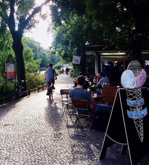 Capture Berlin Canal Pavilion Am Ufer Paul Linke Ufer Ice Cream Summertime Cycling Discover Berlin