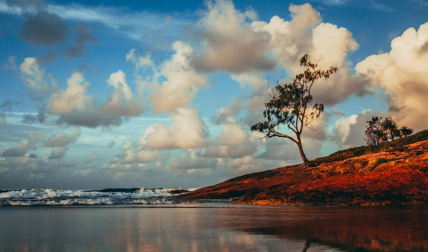 Cloud - Sky Sky Water Beauty In Nature Nature Scenics - Nature No People Tree Sea Outdoors Tranquil Scene