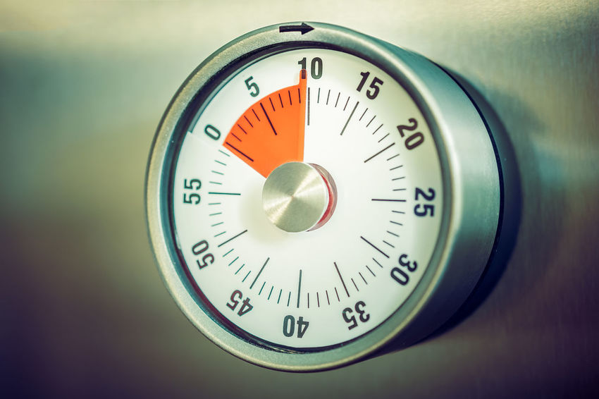 10 Minutes - Analog Kitchen Timer Placed On A Refrigerator Countdown Fridge Reflection Retro Aluminium Analog Chrome Close-up Counting Down Egg Timer Hours Kitchen Timer Macro Metal Minutes Refridgerator Seconds Silver Colored Ten Time Timer Vintage