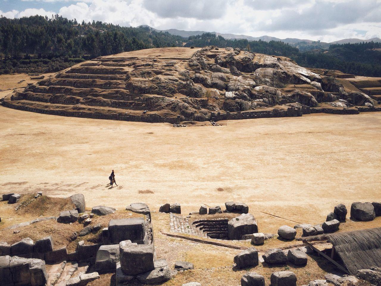 High Angle View Of Saksaywaman