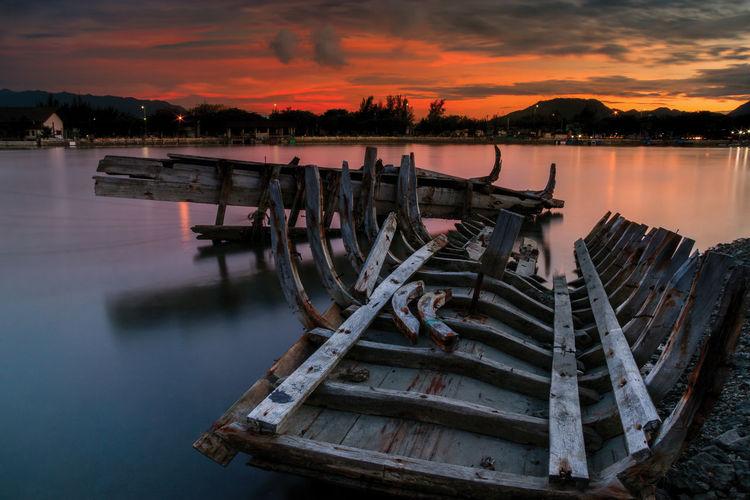 #landscape #nature #photography #Wallpaper #oldboat #sunset #sun #clouds #skylovers #sky #nature #beautifulinnature #naturalbeauty #photography #landscape #Canon #clouds  #beautiful #longexposure First Eyeem Photo