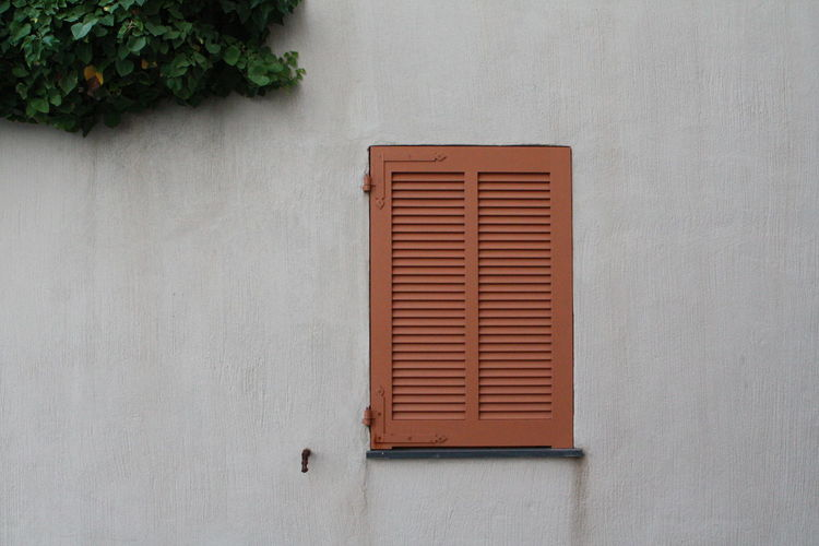 Close-up of closed building window