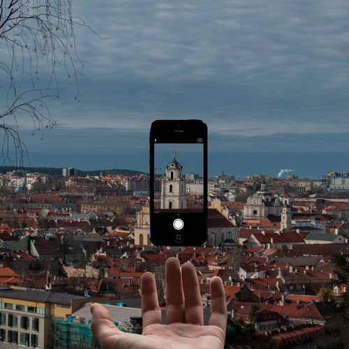 Sky Cityscape Outdoors City Telephone Day Adult Levitation Photography Levitation Edited Edited By Me Best Eyeem Edits Best Eyeem Shots Lithuania Vilnius EyeEmNewHere EyeEm Best Edits IPhone Photography Photographer Photoshop Photoshop Edit EyeEm Best Shots EyeEmBestPics Baltic Art Is Everywhere Break The Mold Cut And Paste Live For The Story