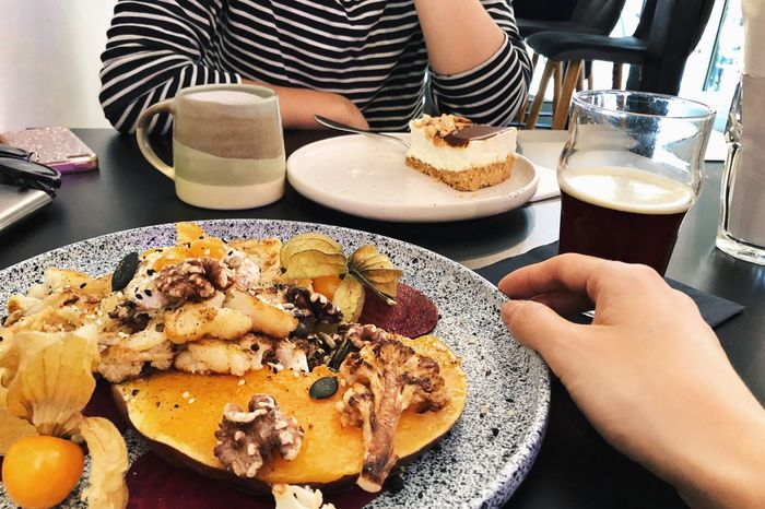 Healthy Living Hipster Brunch Hipster Sunday Joy Brunch With A Friend Girls Brunch Brunch Food And Drink Food Human Hand Hand Freshness Table Real People