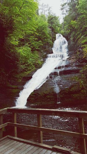 Pocono Water Nature Splashing Waterfall No People