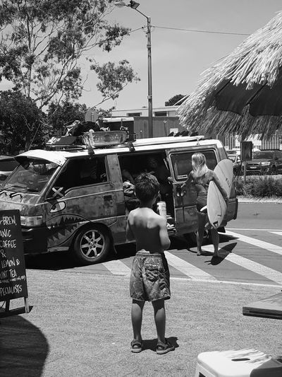 Surf Black And White Blackandwhite Blackandwhite Photography Boys Campervan Car Child Childhood Growing Up Lifestyles Road Street Streetphotography Surfing Transportation A New Beginning