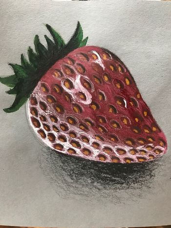 favorite fruit ArtWork Realistic Drawing Freshness No People Indoors  Still Life Food Close-up Food And Drink Healthy Eating Fruit Red Ready-to-eat