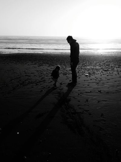 Silhouette Sunset People Child Childhood Outdoors