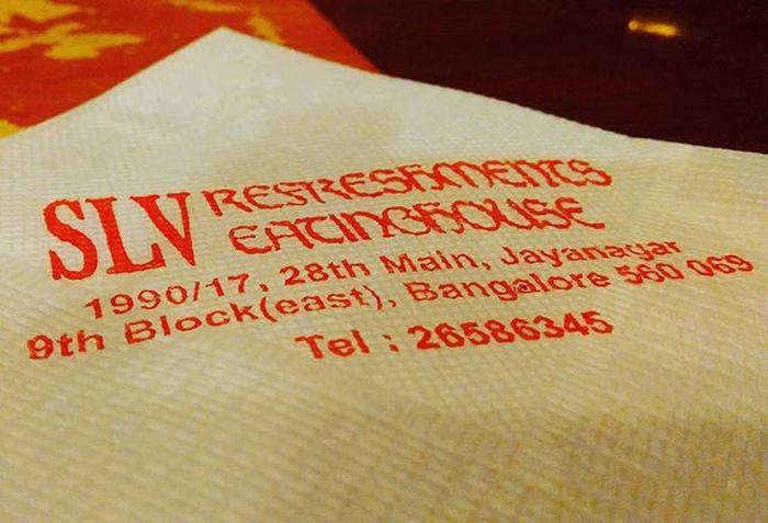 Bengaluru Slv Always Tastes Good Yummy Lunch Napkin Instalike Instaevening Instagood ThroughMyLens