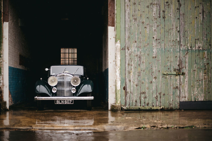 Classic Car meet at Bicester Heritage, UK Bicester Bicester Heritage Car Show Classic Classic Car Classic Car Show England England, UK Historic Car RAF Base Rain Reenactment War Reenactment Wet