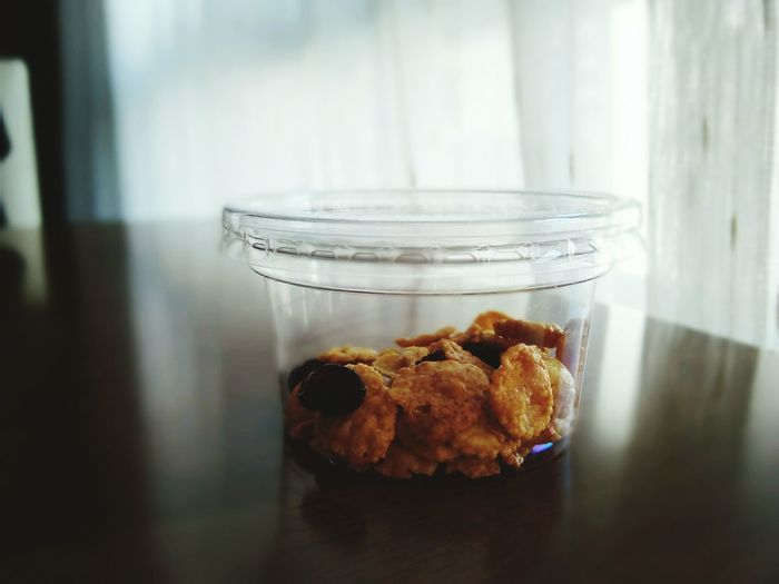 Sweet Food Food And Drink Jar Indoors  Food No People Freshness Baked Homemade Close-up Ready-to-eat Day Table Sunday Morning Food And Drink Indoors  Cornflakes Eat Thailand_allshots EyeEm Thailand Smartphonephotography Alone Time