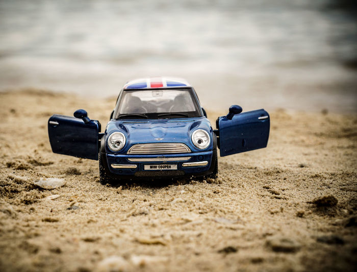 My Cooper Beach Car Day Diecast No People Outdoors Sports Race Toysphotography