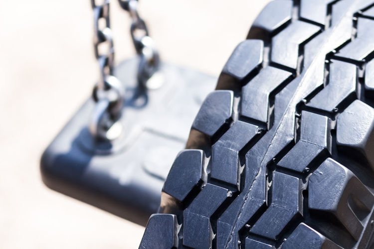 Detail shot of cropped tire