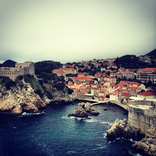 The longest vacay is over! Dubrovnik was awesome even cloudy. Croatia Goingbacktocali