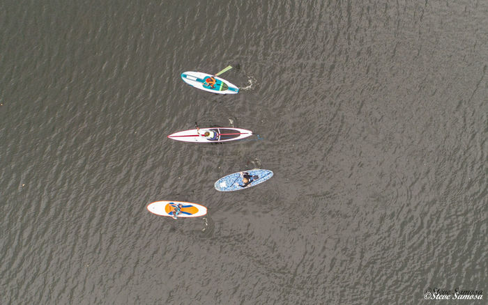 Aerial Photography Aerial View Dronephotography Droneshot High Angle View Outdoors Paddler Boards Water Watersports