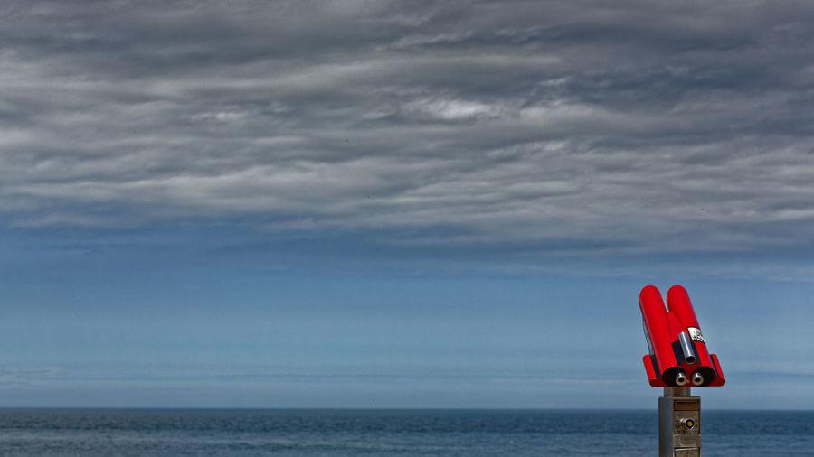 Vue sur mer Étretat Normandie France 2014 Fernglas Meeresblick Étretat Normandie Frankreich Sea-view Étretat Normandy France Vue Sur Mer Étretat Normandie France 2014 Horizon Over Water Jumelles Sea Telescope