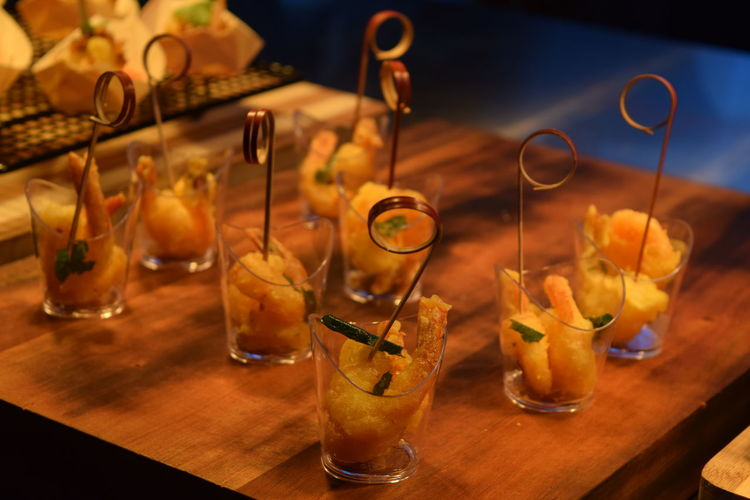Close-Up Of Food In Glass On Table