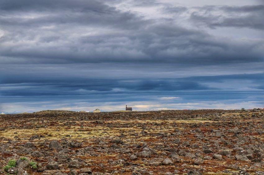Cloud - Sky Landscape Sky Tranquility Beauty In Nature Church Hvalsneskirkja Hvalsnes Reykjanes Suðurnes Summertime The Great Outdoors - 2017 EyeEm Awards