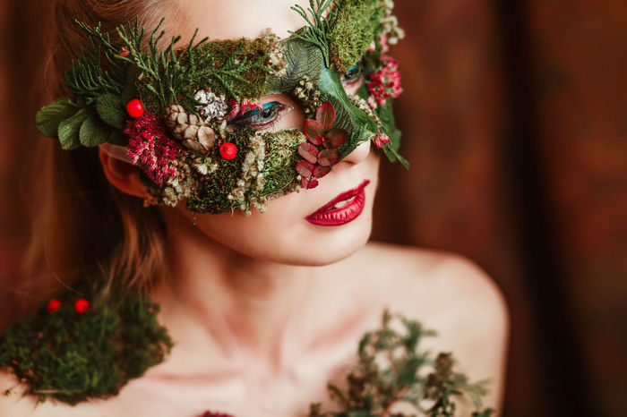 Autumn Autumn Collection Autumn Colors Autumn Leaves Fairy Fairytale  Green Green Color Red Close-up Green Color Headshot Mask Mask Collection Mask Collection Masked Red Color