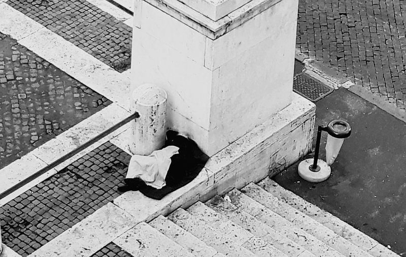 Man Made Object Homelessness  Urban Geometry Geometrie Urbane Outdoors Solitude Is A Place For Purification