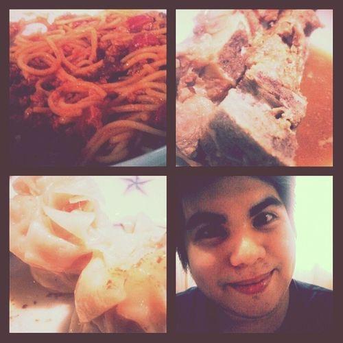Spaghetti...Humba...Siomai! OH MY! HappyTummy Foodgasm Foodie Spag noki lami hbdandre predinner
