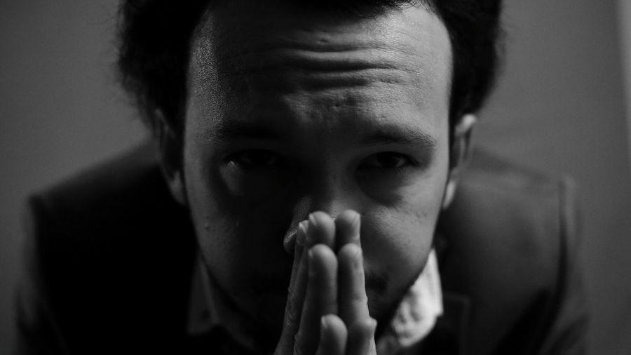 Alone in Dark #blackandwhite #bnwphotography #bnw #cinema #art #photography #EyeEm #EyeEmNewHere Human Hand Portrait Human Face Worried Depression - Sadness Grief Females Looking At Camera Terrified The Portraitist - 2018 EyeEm Awards