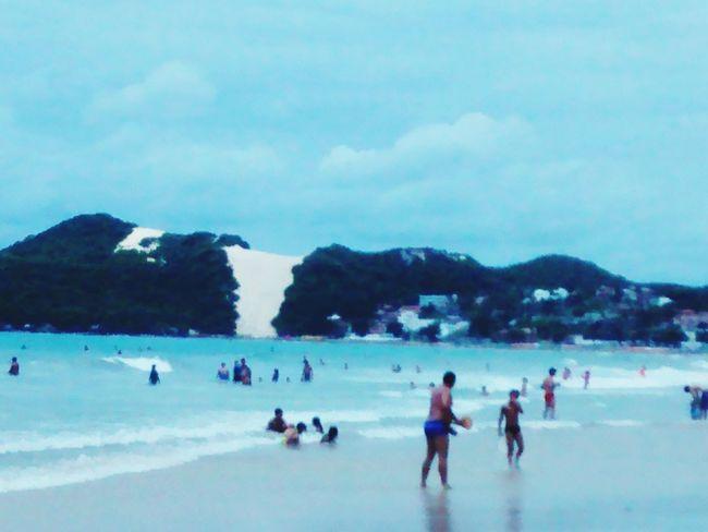 Praia De Ponta Negra Hello World Happy