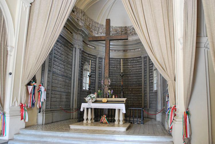 Inside the ossuary of solferino, mantova, lombardy, italy.