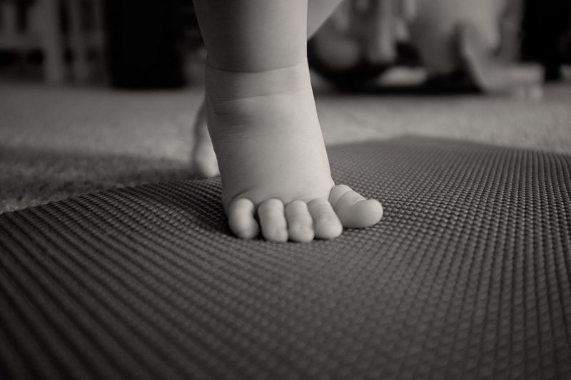 Little human Yoga Toddler  Portrait Check This Out Hanging Out Zen Enjoying Life Taking Photos Relaxing Blackandwhite Feet Toes Stressreliever
